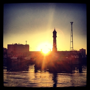Sunrise in Port Vell, Barcelona