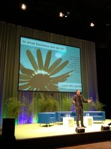 Conrad Eß from Green Technology Staffing making a great speech