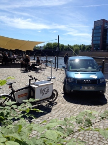 Radialsystem is beautifully located by the river Spree in Berlin